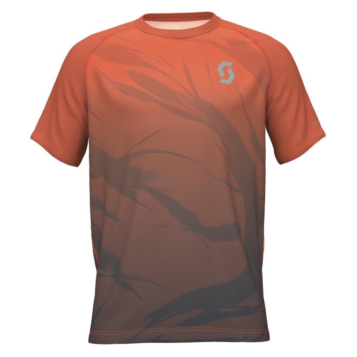 Scott t-shirt Kinabalu heren orange/black