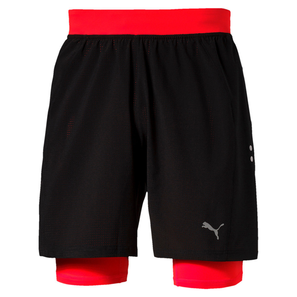 Puma short Faster  Than You 2in1 zwart/rood