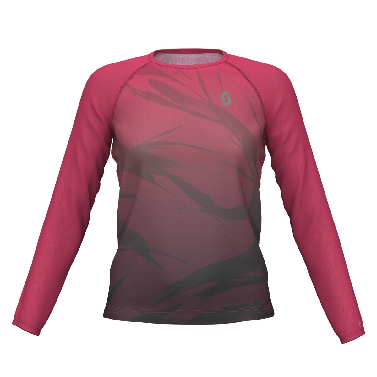 Scott t-shirt l/s Kinabalu dames pink/black