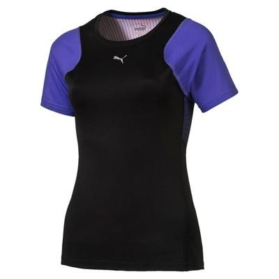 Puma Graphic s/s t-shirt dames zwart/blauw