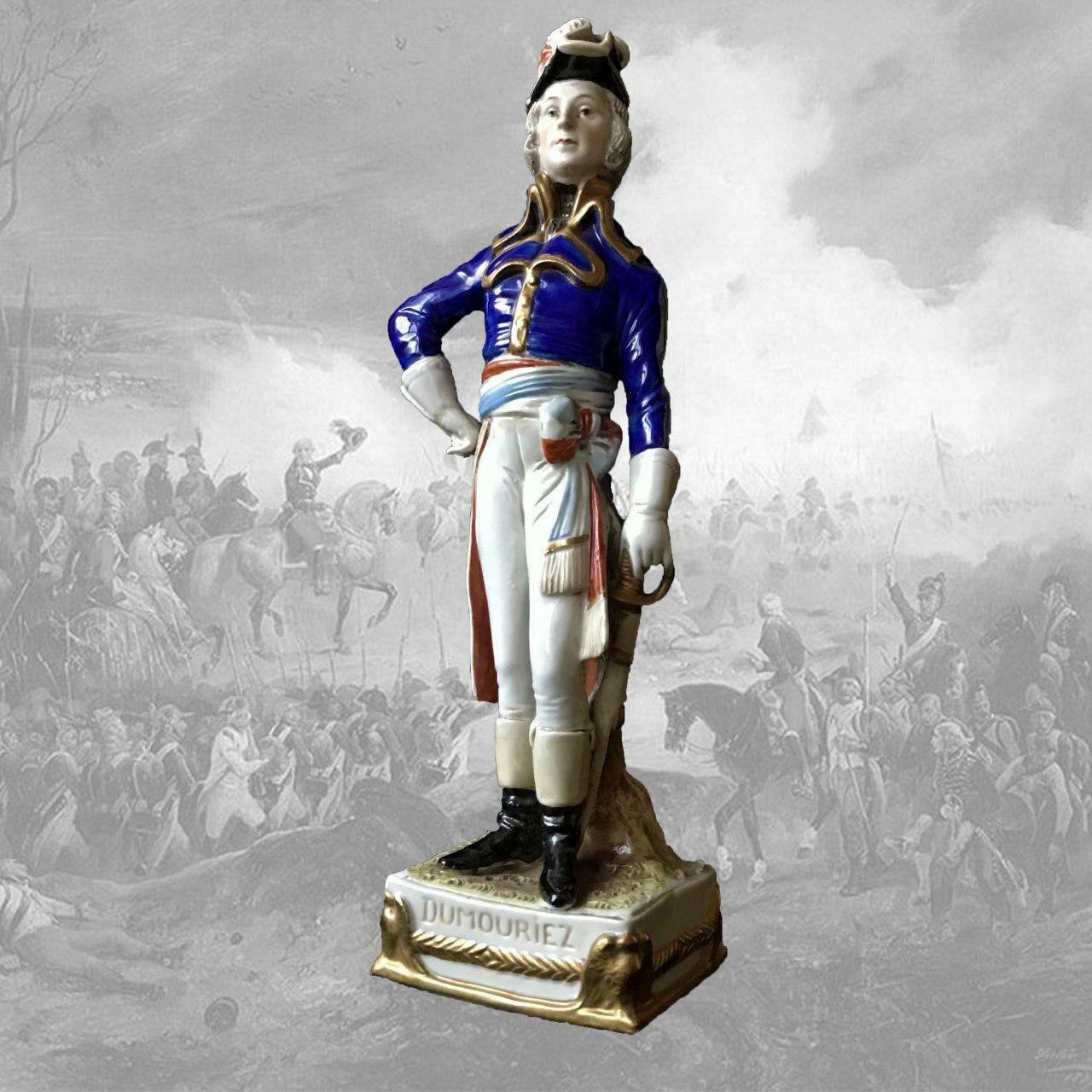 """Фарфоровая статуэтка """"Генерал Дюмурье"""", Scheibe-Alsbach"""