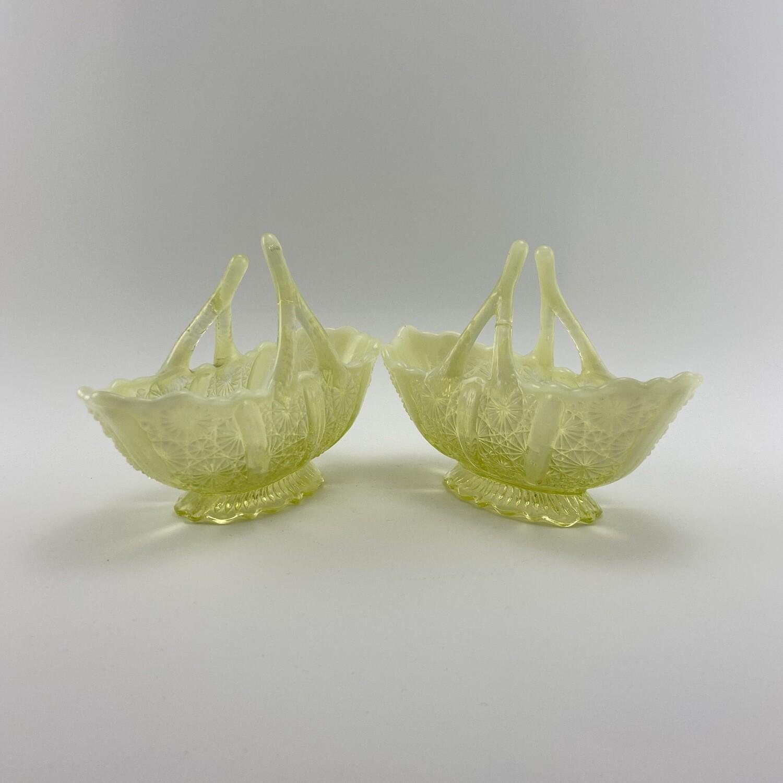"""Сервировочные вазочки из уранового стекла """"Lady Chippendale"""""""