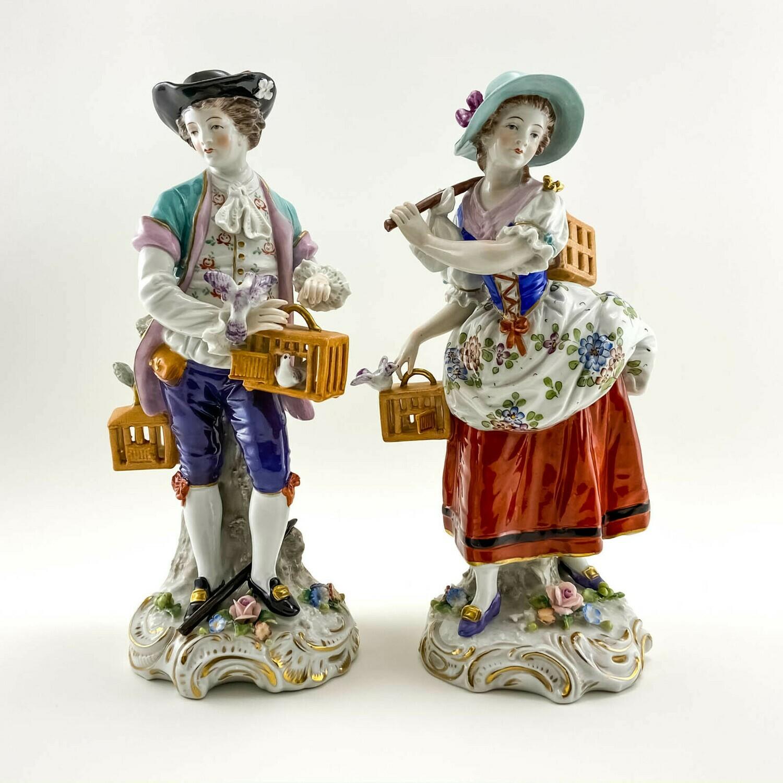 """Фарфоровые статуэтки """"Голубиная почта"""" Sitzendorf"""