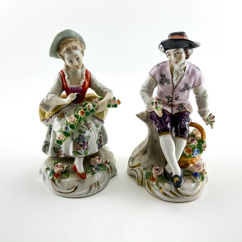 """Фарфоровые статуэтки """"Флористы"""" Sitzendorf"""