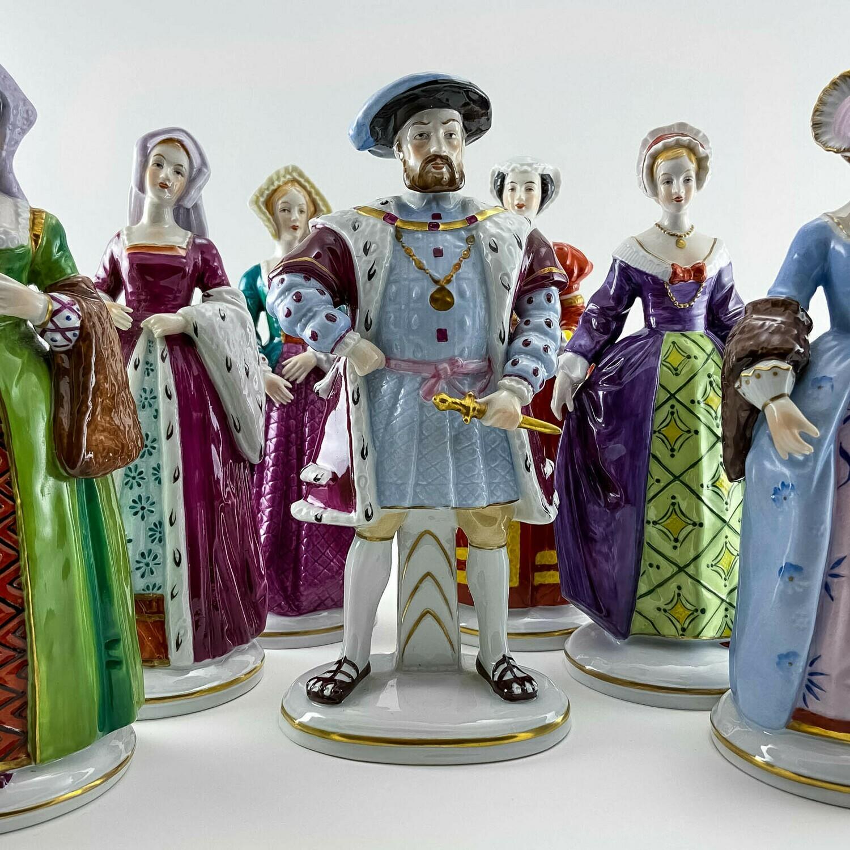 """Фарфоровые статуэтки Sitzendorf  """"Генрих VIII и его жены"""""""