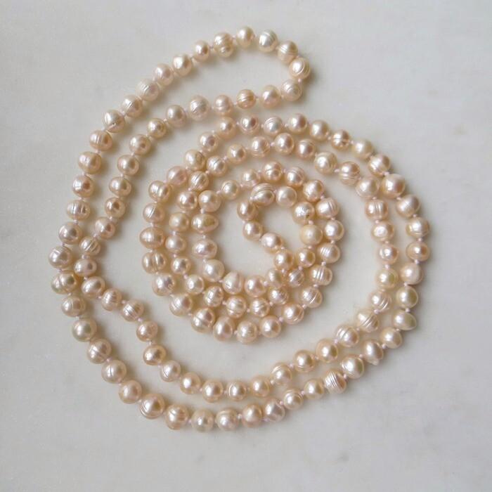 Винтажное ожерелье из натурального жемчуга