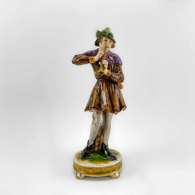 """Фарфоровая статуэтка """"Дудочник"""", Rudolf Kammer"""