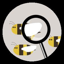 NFC Sticker PVC - BeeInTouch Aufdruck:Durchschau