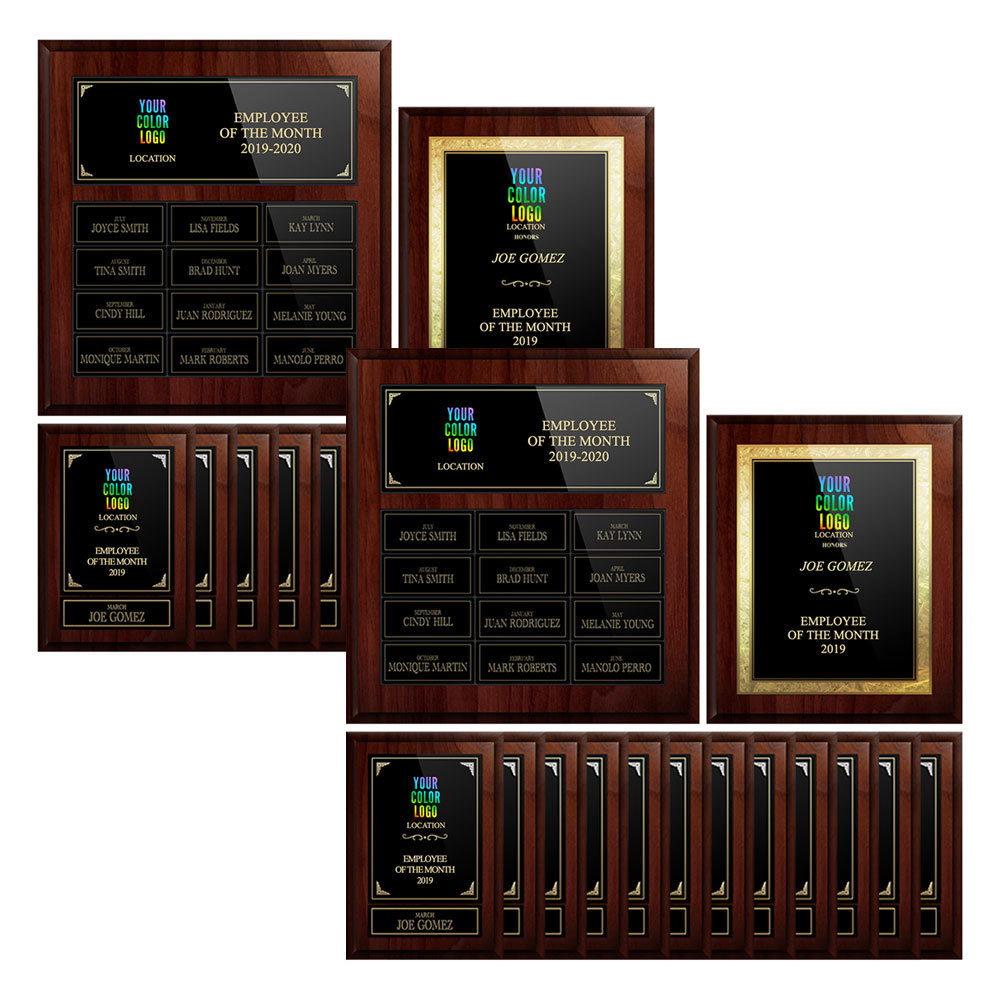 Recognize 2 Employee Per Month With Plaques