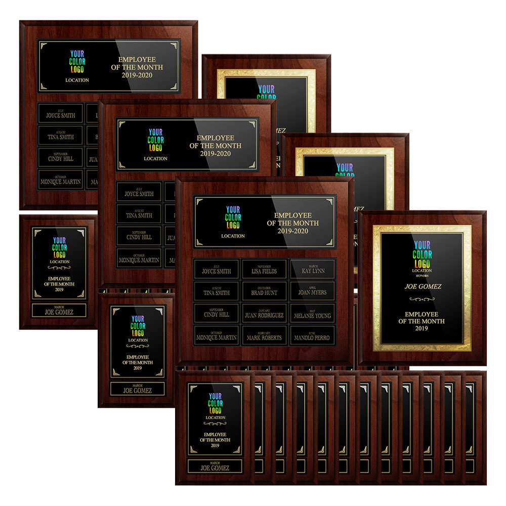 Recognize 3 Employee Per Month With Plaques
