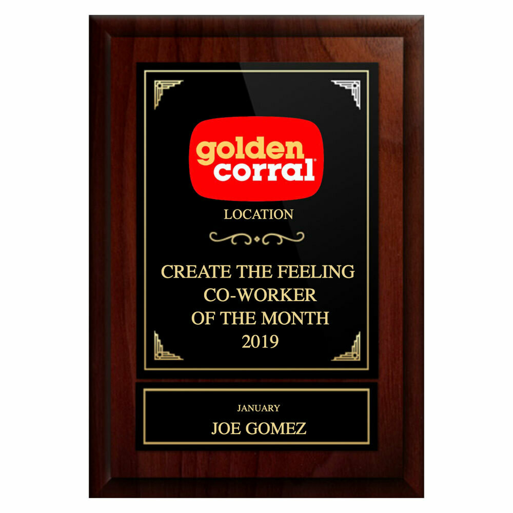 "5""x7"" Golden Corral Plaque"