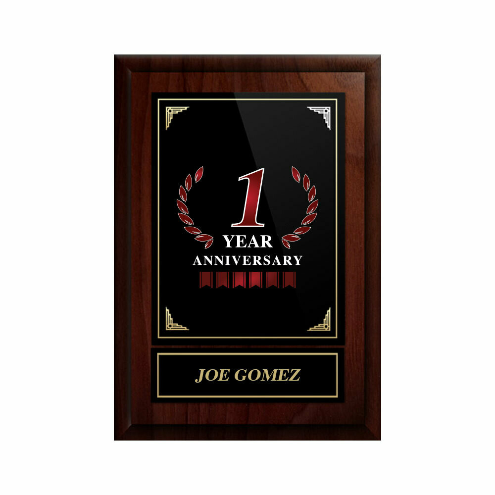 1 Year Anniversary Plaque