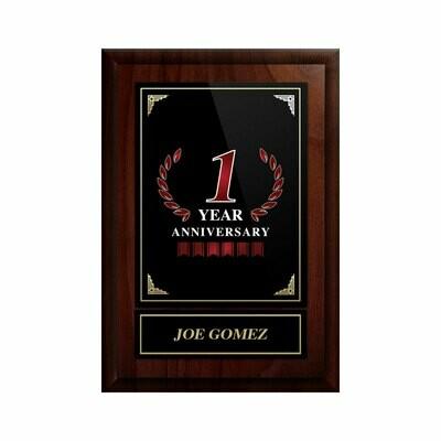 1 Year Anniversary Plaque