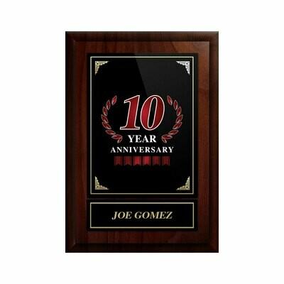 10 Year Anniversary Plaque