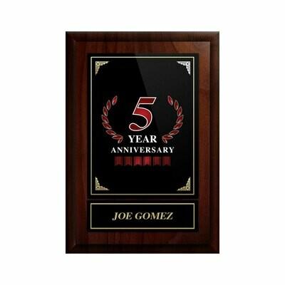 5 Year Anniversary Plaque