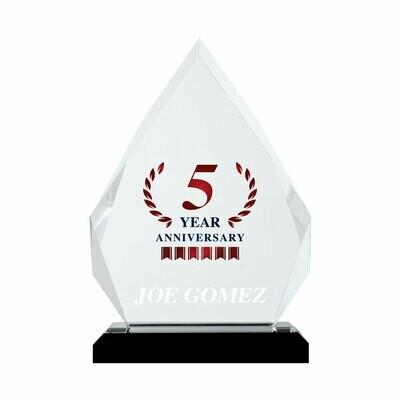 5 Year Anniversary Acrylic Prism