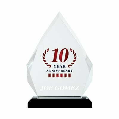 10 Year Anniversary Acrylic Prism