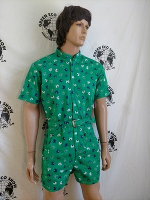 Mens Rompers Green butterflies M -L Hermans  USA