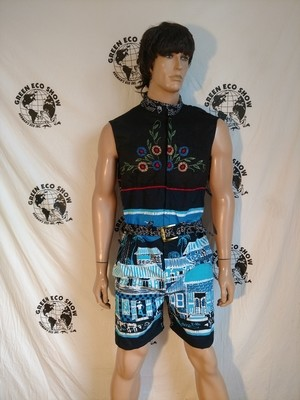 Romper Batik L Embroidered  Sleeveless Hermans USA