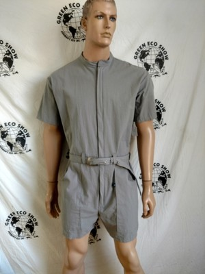 Gray Romper L Seer sucker Hermans  USA