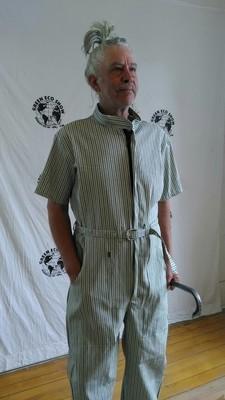 Mens Jumpsuit XL Blk Stripe Hermans  XL USA