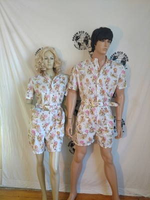 Matching Strawberry Shortcake  Rompers His hers  L Made in USA Hermans