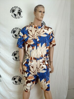 Mens Romper Island Flowers XXL Hermans USA