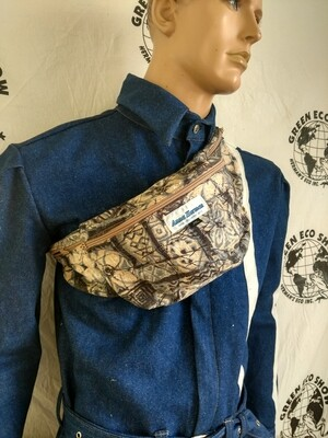 Anna Herman Fanny Pack  Bark cloth USA