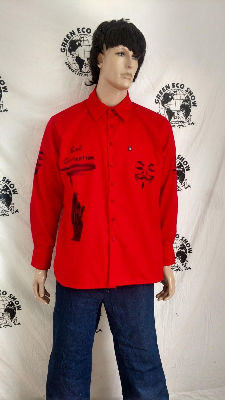 Mens Grafitti shirt XXL Anonymous Made in USA