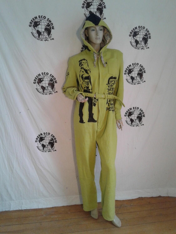 Womens jumpsuit hoody airbrushed Grafitti M USA