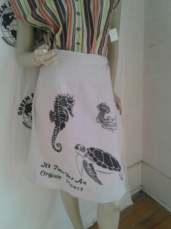 Hermans Hemp Endangered species skirt L made in USA