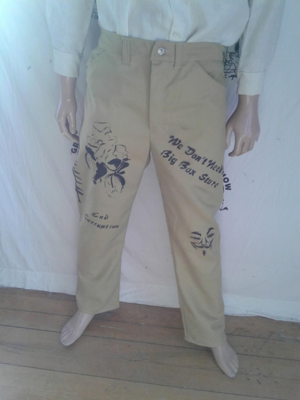 Grafitti mens pants  Hermans Eco 34 X 31