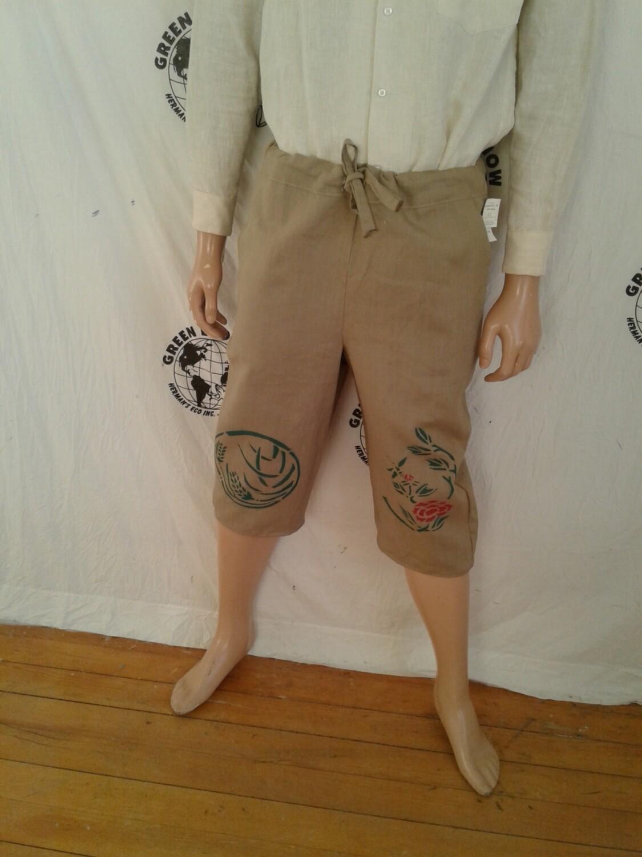 Hermans Hemp drawstring airbrushed Shorts made in USA