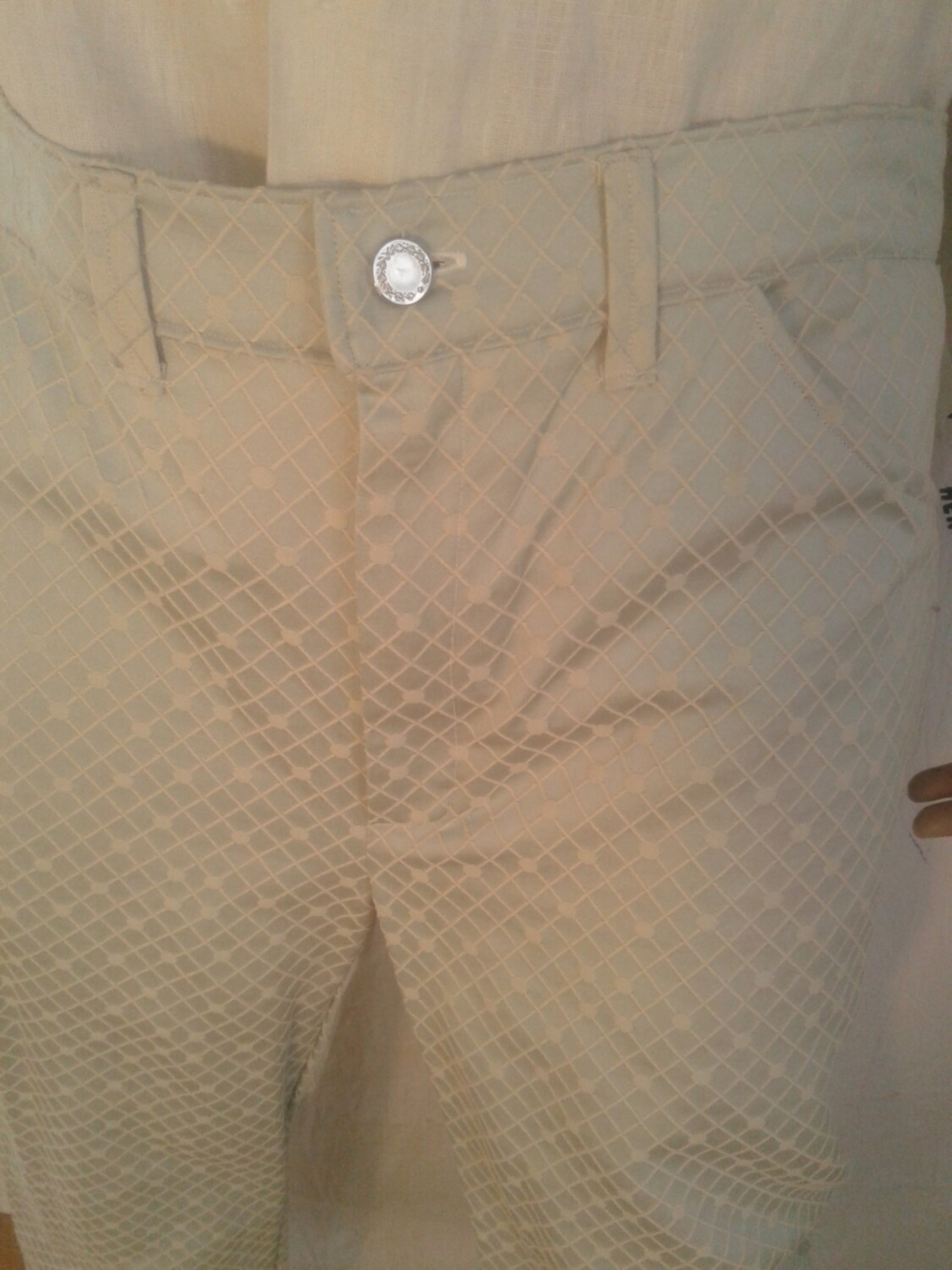 Hermans Jeans made in USA satin check 36 x 31