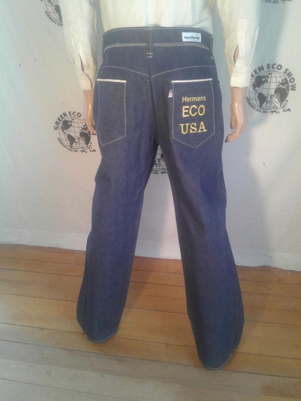 Hermans Eco denim jeans 38 X 33 thick USA