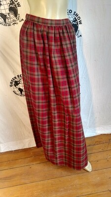 Plaid Renaissance Skirt 26 Hermans  USA
