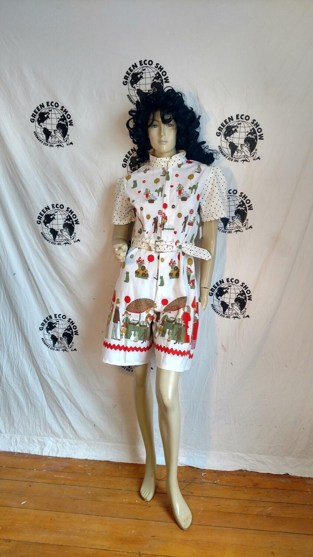 Womens patchwork jumpsuit  m USA