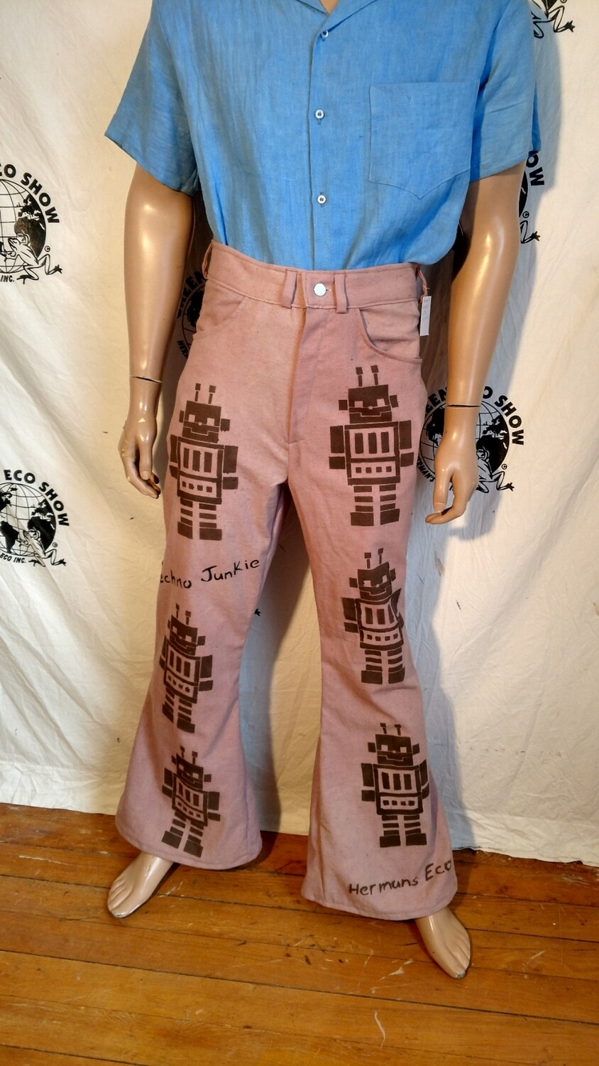 Robot jeans handyed 32 airbrushed Hermans Eco