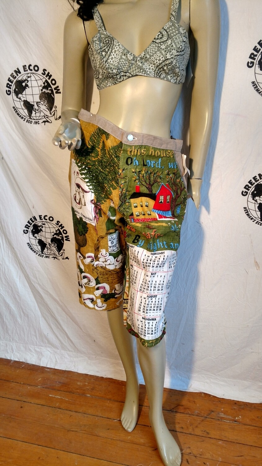 Calendar pants Shorts Med Welsh w 30  USA