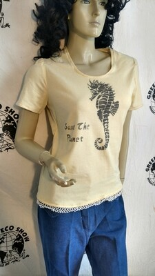 Seahorse save the planet and shirt med USA Hermans