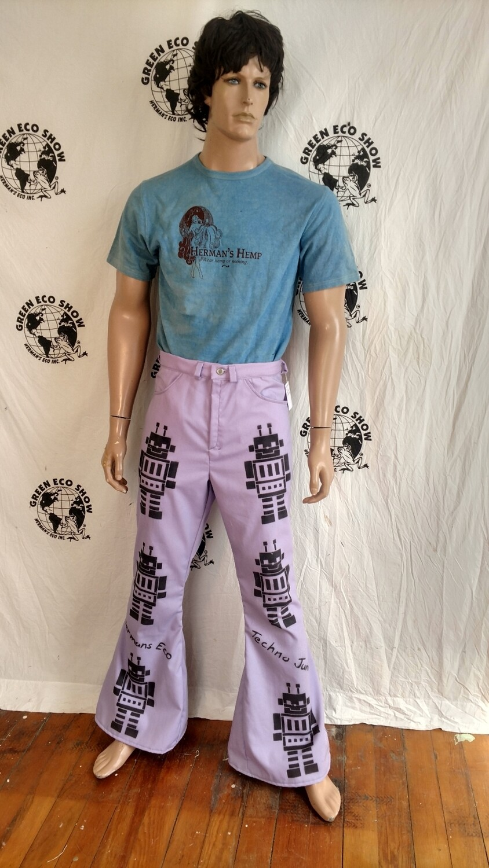 Robot jeans 32 -34 purple Hermans Eco Grafitti
