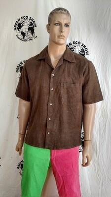 Hermans Hemp mems short sleeve Shirt XL USA