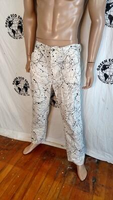 Paint Splatter jeans Hermans 36 X 31 USA