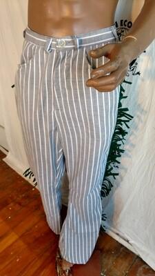 Striped fringe jeans 29 X 31 Hermans Eco USA