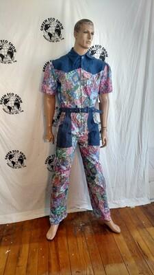 Mens jumpsuit L X 31 pastel Hermans Eco USA