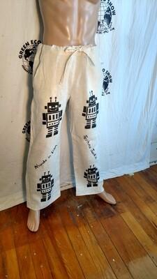 Hermans Hemp Robot pants Drawstring L USA