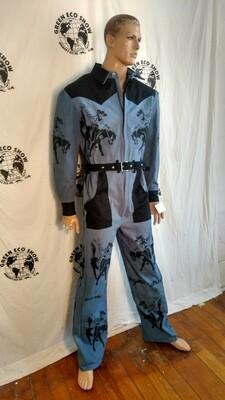 Mens Rodeo Jumpsuit organic cotton USA ,hemp Hermans Eco