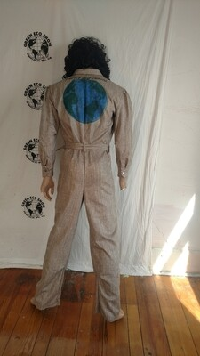 World seaturtle airbrushed mens Jumpsuit suit M to L Hermans