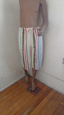 Hermans Hemp Drawstring beach pants shorts Striped S