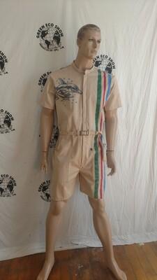 Mens Romper Jumpsuit L nat color organic cotton